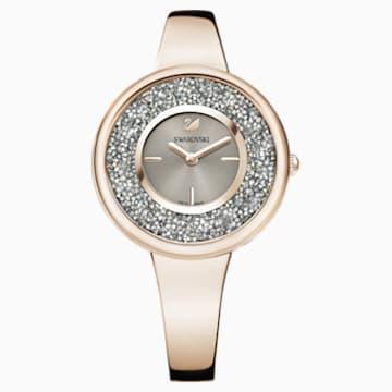 Reloj Crystalline Pure, Brazalete de metal, PVD en tono Oro Champán - Swarovski, 5376077