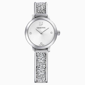 Ρολόι Cosmic Rock, μεταλλικό μπρασελέ, λευκό, ανοξείδωτο ατσάλι - Swarovski, 5376080