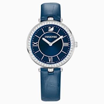 Aila Dressy Lady 腕表, 真皮表带, 蓝色, 不锈钢 - Swarovski, 5376633
