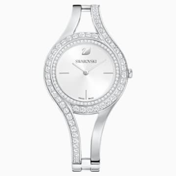 Eternal Saat, Metal bileklik, Beyaz, Paslanmaz çelik - Swarovski, 5377545