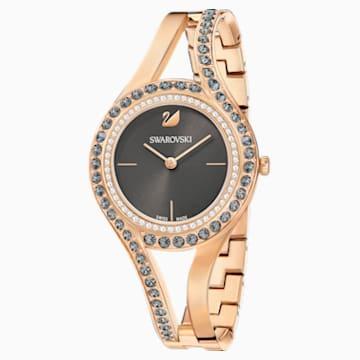 Eternal 腕表, 金属手链, 深灰色, 玫瑰金色调 PVD - Swarovski, 5377551