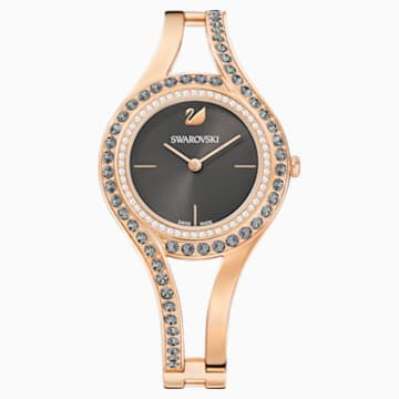 Eternal Watch, Metal bracelet, Dark grey, Rose-gold tone PVD - Swarovski, 5377551