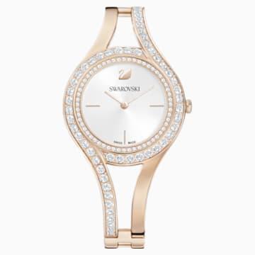 Eternal 手錶, 金屬手鏈, 白色, 香檳金色色調PVD - Swarovski, 5377563