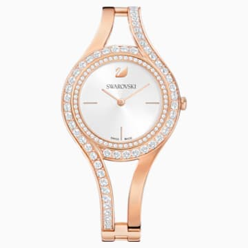 Eternal Uhr, Metallarmband, weiss, Rosé vergoldetes PVD-Finish - Swarovski, 5377576