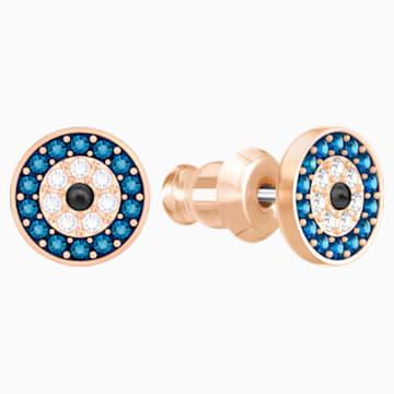 Boucles d'oreilles Luckily Evil Eye, multicolore, Métal doré rose - Swarovski, 5377720
