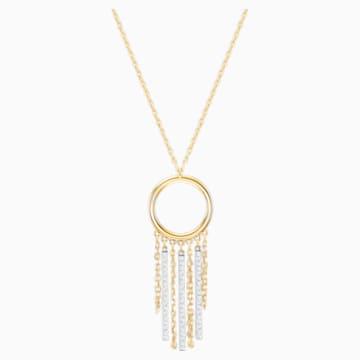 Lyrebird Circle 项链, 白色, 混搭多种镀层 - Swarovski, 5381226