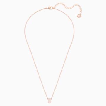 Stone Round Ring, Pink, Rose-gold tone plated - Swarovski, 5383957