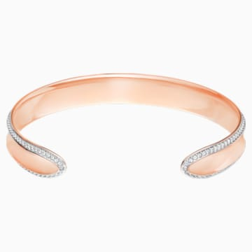 Lakeside Cuff, White, Rose-gold tone plated - Swarovski, 5387569