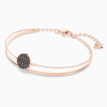 Bracciale rigido Ginger, grigio, Placcato oro rosa - Swarovski, 5389046
