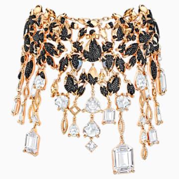 Manor Necklace, Multi-coloured, Rose-gold tone plated - Swarovski, 5389181