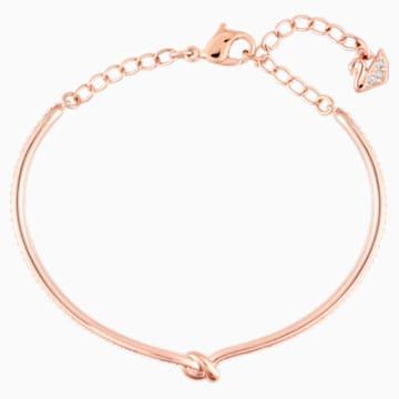 Lifelong-armband, Wit, Roségoudkleurige toplaag - Swarovski, 5390818