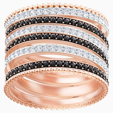 Lollypop Ring, Black, Rose-gold tone plated - Swarovski, 5390913