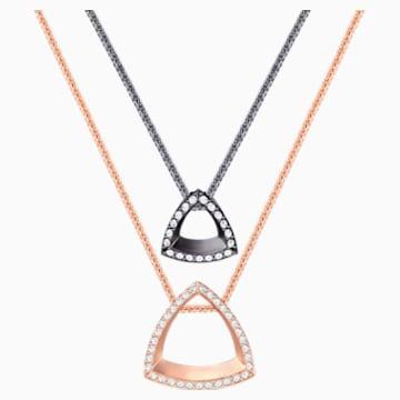 Lovesome Triangle 链坠, 白色, 混搭多种镀层 - Swarovski, 5391329