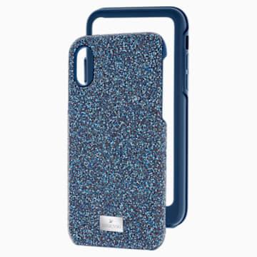 Coque rigide pour smartphone avec cadre amortisseur High, iPhone® X/XS, bleu - Swarovski, 5392041