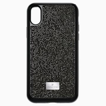 Coque rigide pour smartphone avec cadre amortisseur intégré Glam Rock, iPhone® X/XS, noir - Swarovski, 5392050