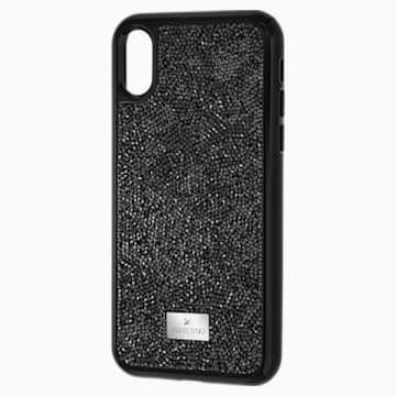 Custodia smartphone con bordi protettivi integrati Glam Rock, iPhone® X/XS, nero - Swarovski, 5392050