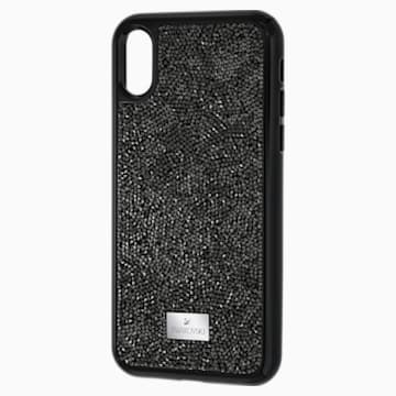Glam Rock 智能手機防震保護套殼, iPhone® X/XS, 黑色 - Swarovski, 5392050