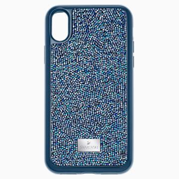 Glam Rock Smartphone Case with integrated Bumper, iPhone® X/XS, Blue - Swarovski, 5392052