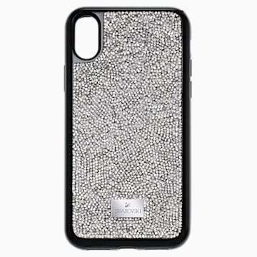 Glam Rock Smartphone Case with integrated Bumper, iPhone® X/XS, Grey - Swarovski, 5392053