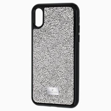 Glam Rock Smartphone Etui mit integriertem Bumper, iPhone® X/XS, grau - Swarovski, 5392053