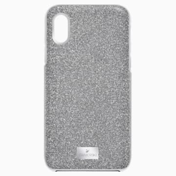 High Smartphone Case with Bumper, iPhone® X/XS, Gray - Swarovski, 5393906