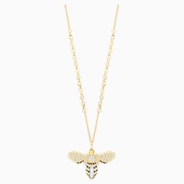 Lisabel Pendant, White, Gold-tone plated - Swarovski, 5394212