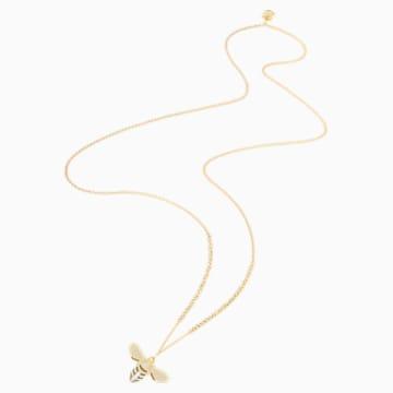 Pendentif Lisabel, blanc, Métal doré - Swarovski, 5394212