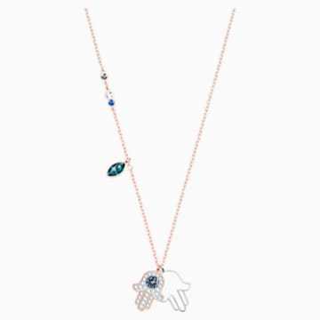 Swarovski Symbolic Hamsa Hand Pendant, Multi-colored, Mixed metal finish - Swarovski, 5396882