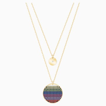 Ginger Layered Pendant, Multi-colored, Gold-tone plated - Swarovski, 5397843