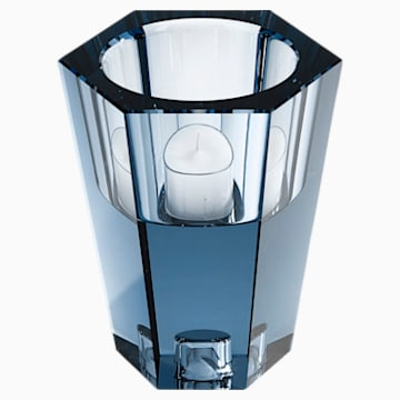 Lumen Reversible Vase, Small, Blue - Swarovski, 5399199
