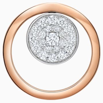 18K RG/WG Dia Petit Chic Circle Pendant - Swarovski, 5401334