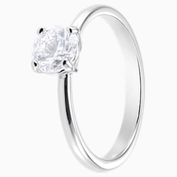 Attract Ring, White, Rhodium plated - Swarovski, 5402428