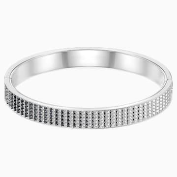 Bracelet-jonc Luxury, noir, métal rhodié - Swarovski, 5402544