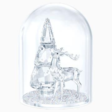 水晶鐘罩 – 松樹與雄鹿 - Swarovski, 5403173