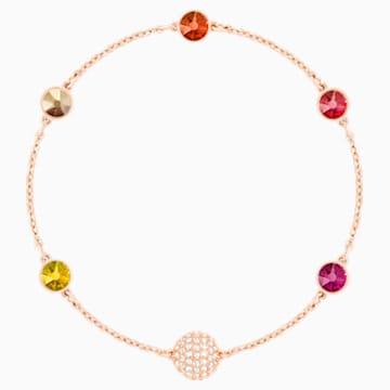 Swarovski Remix Collection Orange Strand, Multi-colored, Rose-gold tone plated - Swarovski, 5403215
