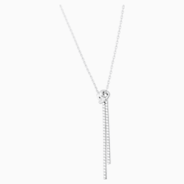 Lifelong Y Pendant, White, Rhodium plated - Swarovski, 5408435