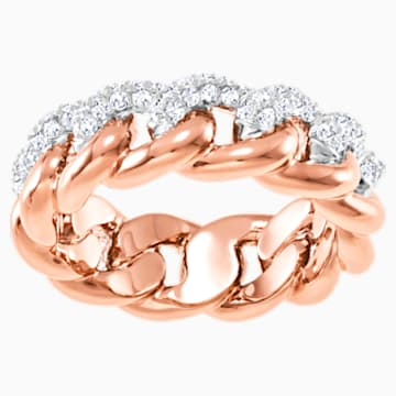Lane Ring, White, Rose-gold tone plated - Swarovski, 5409185