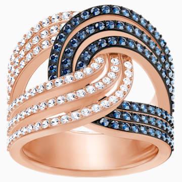 Lemon Knot Ring, Blue, Mixed metal finish - Swarovski, 5409190