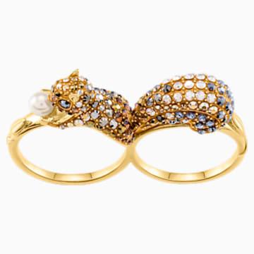 March Squirrel Motif Ring, Multi-colored, Gold-tone plated - Swarovski, 5409362
