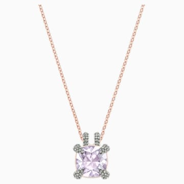Make Pendant, Violet, Rose-gold tone plated - Swarovski, 5409673