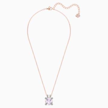 Make Anhänger, lila, Rosé vergoldet - Swarovski, 5409673