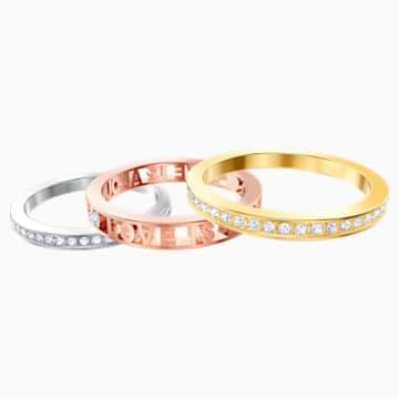 Admiration 戒指, 白色, 多种金属润饰, 55号 - Swarovski, 5409700