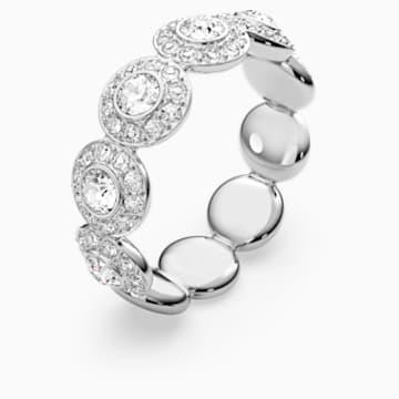 Angelic gyűrű, fehér, ródium bevonattal - Swarovski, 5410290