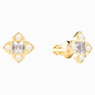 Millennium Pierced Earrings, Multi-colored, Mixed metal finish - Swarovski, 5410409
