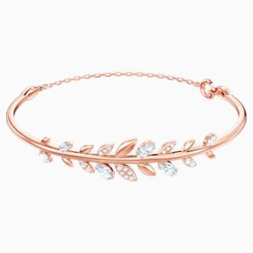 Bracciale rigido Mayfly, bianco, Placcato oro rosa - Swarovski, 5410411