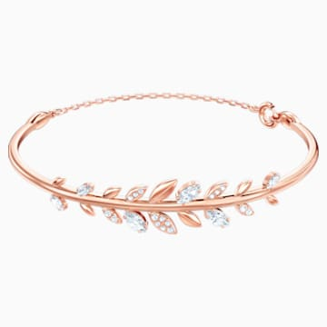 Mayfly Bangle, White, Rose-gold tone plated - Swarovski, 5410411
