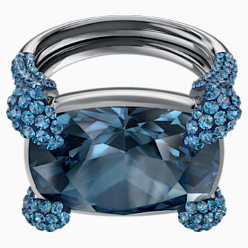 Make Cocktail Ring, Blue, Ruthenium plated - Swarovski, 5410664