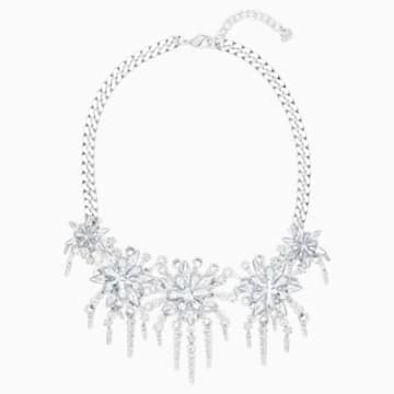 Merry Strandage, White, Rhodium plated - Swarovski, 5411001
