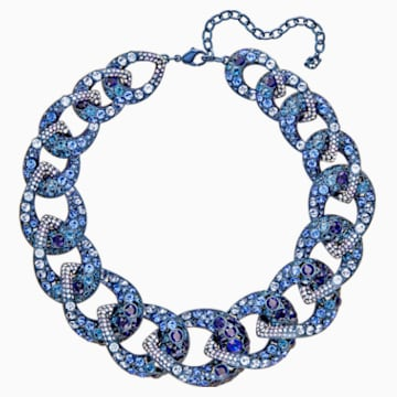 Tabloid Necklace, Multi-coloured, Blue PVD Coating - Swarovski, 5411006