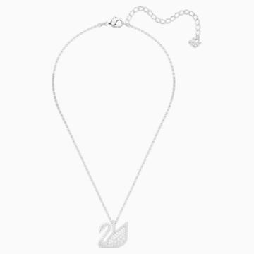 Přívěsek Swarovski Iconic Swan, Bílý, Rhodiem pokovený - Swarovski, 5411791